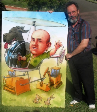 Large scale caricature.